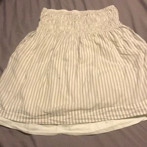POCKETS! Striped Cotton Skater Skirt